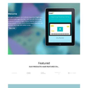 product landing layout thumb