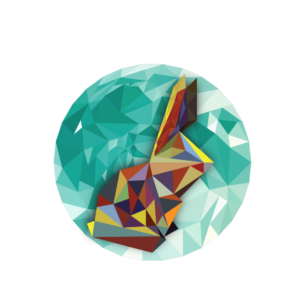 CONEJO LETRAS BLANCAS